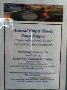 Empty Bowls Fundraiser @ Cedar Key Community Center | Cedar Key | Florida | United States