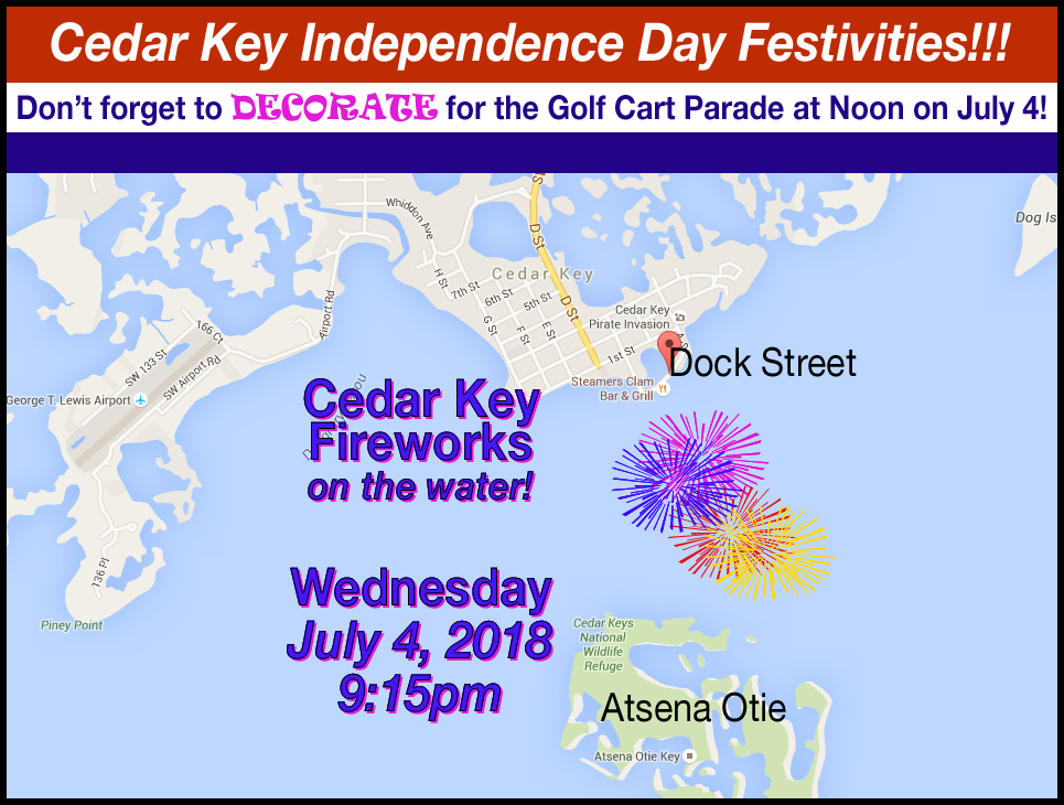 2018 Independence Day Fireworks Cedar Key Chamber Of Commerce