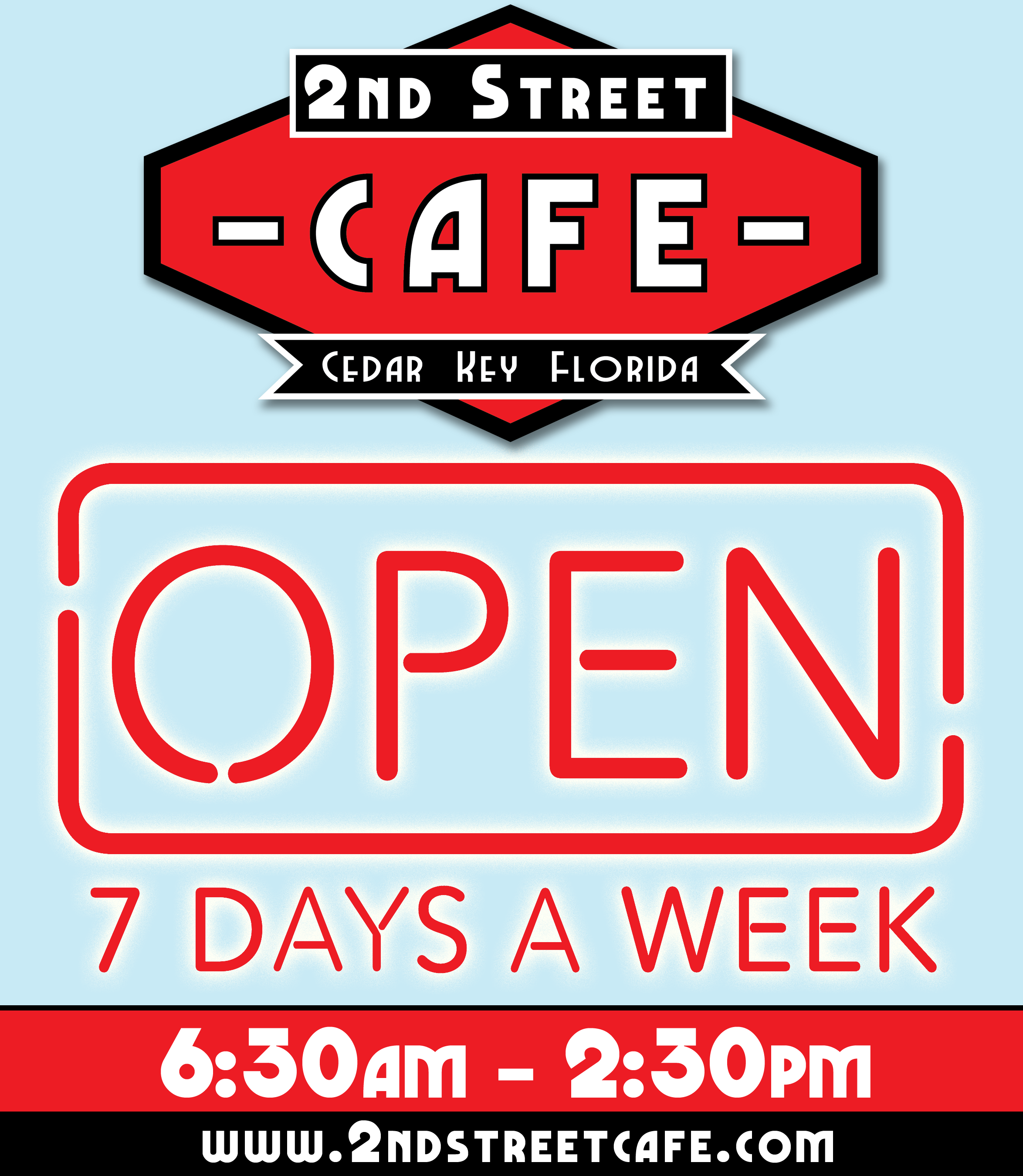 2nd Street Cafe - open 7 Days