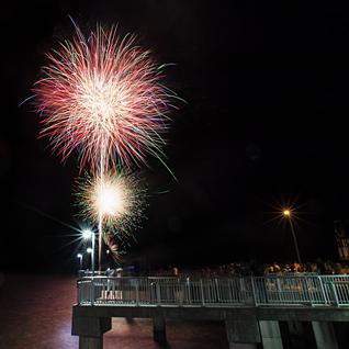 2018 Fireworks on Cedar Key's Big Dock