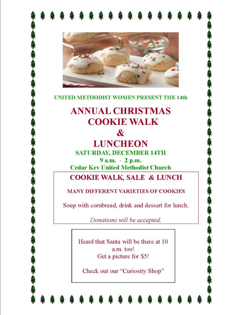 Annual Christmas Cookie Walk & Luncheon @ United Methodist Church | Cedar Key | Florida | United States