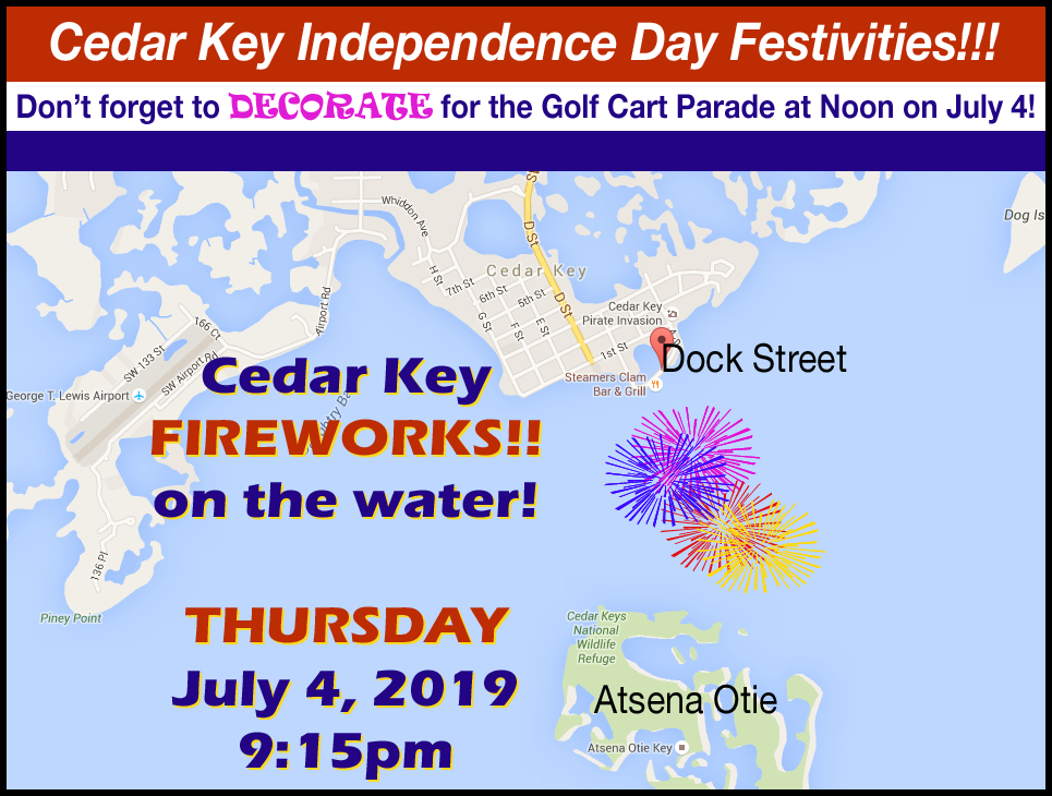 July 4 2019 Fireworks Cedar Key Florida